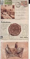 13 C  Entier Postal D'Algérie En 3 Volets La Broderie Sur Cuir - Lettres & Documents