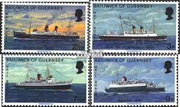 GB - Guernsey 75-78 (kompl.Ausg.) Postfrisch 1973 Postschiffe - Guernesey