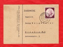 Postkarte Deutsches Reich Mit Sondermarke - Sin Clasificación