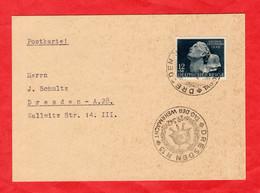 Postkarte Deutsches Reich Mit Michel Nr. 812 Und Sonderstempel - Sin Clasificación