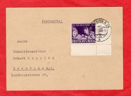 Postkarte Deutsches Reich Sondermarke Mit Eckrand - Sin Clasificación