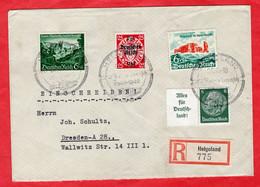 Sehr Schöner R - Brief Deutsches Reich Helgoland Mit Sonderstempel - Sin Clasificación
