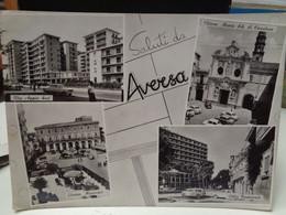 Cartolina Saluti Da Aversa Prov Caserta  1964, Via Appia Sud, Piazza Municipio, Villa Comunale ,chiesa Casaluce - Caserta