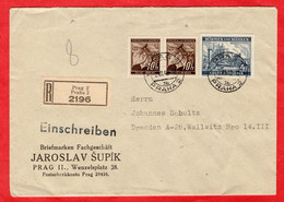 R - Brief Deutsches Reich Böhmen Und Mähren - Sectores De Coordinación