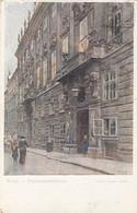 7588) WIEN - FINANZMINISTERIUM Mit Polizist  - Signiert Ernst Graner - WIENER KÜNSTERPOSTKARTE 1928 - Altri