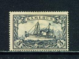 GERMAN CAMEROON  -  1901 Yacht Definitive 3m Hinged Mint - Colonie: Cameroun