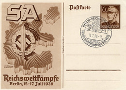 Postkarte Ganzsache Deutsches Reich SA Mit Sonderstempel - Sin Clasificación