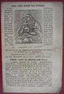 BRUGGE 1875 Blijvend Engagement BROEDERSCHAP ONZE LIEVE VROUW VAN BIJSTAND + Gebed  Gravure - Devotieprenten