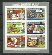 MADAGASCAR 1987 - OLYMPICS BARCELONA 92 - DIVERSOS DEPORTES Y MONUMENTOS - SIN DENTAR - IMPERFORATE - Gymnastics