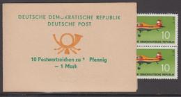 1972. DDR. 10 Postwertzeichen Zu 10 Pfennig. 1 M. 10 Ex 10 Pf. Plane Z-37. Never Hing... (Michel 1750) - JF423190 - Blocchi