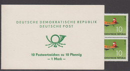 1972. DDR. 10 Postwertzeichen Zu 10 Pfennig. 1 M. 10 Ex 10 Pf. Plane Z-37. Never Hing... (Michel 1750) - JF423191 - Blocchi