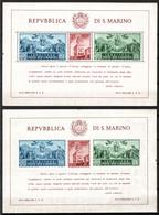 San Marino 1945 BF Palazzo Del Governo Dentellato E Non Sass.BF 6/7 **/MNH VF/F - Blocks & Sheetlets