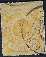 Luxembourg - Luxemburg - Timbre Armoire 1865  4 C.  °  Michel  14   VC. 220 ,- - 1859-1880 Wapenschild