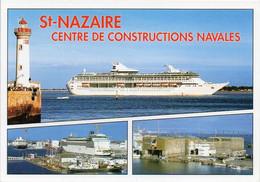 44 SAINT St-NAZAIRE Centre De Constructions Navales - Les Chantiers, La Base Sous-marine Et Le Pont - Saint Nazaire