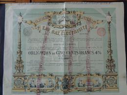 BELGIQUE - BRUXELLES 1896 - CIE MUTUELLE  EAU, GAZ, ELECTRICITE - OBLIGATION 500 FRS 4% - Unclassified
