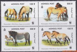 Mongolië 2000 - Mi:3122/3125, Stamp - XX - Wwf Przewalski Horse - Mongolië