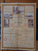 MAROC - RABAT 1933 - EMIRE CHERIFIEN - OBLIGATION 1000 FRS  4 1/2% - - Unclassified