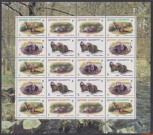 Georgië 1999 - Mi:308/311 Type II KB, Small Sheet - XX - Wwf Mink - Georgië