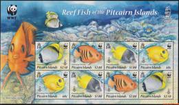 Pitcairneilanden 2010 - Mi:805/808 KB, Small Sheet - XX - Wwf Fishing - Pitcairninsel