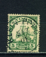 TOGO  -  1900 Yacht Definitive 5pf Used As Scan - Colonie: Togo