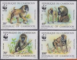 Kameroen 1988 - Mi:1155/1158, Yv:822/825, Stamp - XX - Wwf Monkeys - Camerun (1960-...)