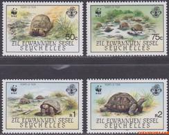 Zil Elwannyen Sesel 1987 - Mi:137/140, Yv:154/157, Stamp - XX - Wwf Turtle - Seychelles (1976-...)
