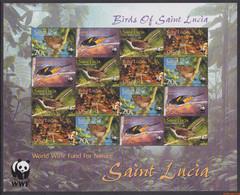 Saint Lucia 2001 - Mi:1142/1145, Sheet - XX - Wwf Birds - St.Lucie (1979-...)
