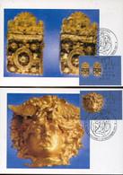 65544 Vaticano, 4 Maximum 2001 The Gold Of The Etruscans, Gli Ori Degli Etruschi, Archeology,l'or Des Etrusques - Maximum Cards