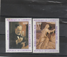 Cameroun 1985 Yvert Série PA  344 ' Taché 2 Scan ) Et 345 ** Neuf Sans Charnière - Camerun (1960-...)