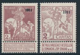 * BELGIQUE - 1910-1911 Caritas