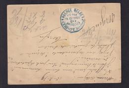 DDZ 911 -- Entier Postal BRUXELLES 1879 Vers ALOST - Etiquette Agence Belge Cerfont Collée Au Verso - Cartoline [1871-09]