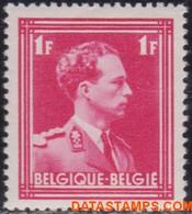 België 1936 - Mi:424, Yv:428, OBP:428, Stamp - XX - Leopold III Open Collar - 1936-1957 Collar Abierto