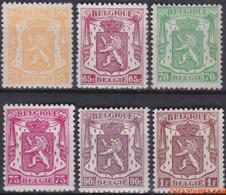 België 1945 - Mi:730/735, Yv:710/715, OBP:710/715, Stamp - XX - Small State Weapon - 1935-1949 Sellos Pequeños Del Estado