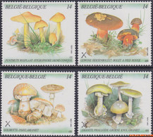 België 1991 - Mi:2470/2473, Yv:2418/2421, OBP:2418/2421, Stamp - XX - Mushrooms - Unused Stamps