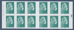 Marianne L'Engagée Carnet 1598-C10 Lettre Verte X12 à Droite 006 Daté 23.09.20 à Gauche, Découvrez Nos 22 Abonnements - Freimarke