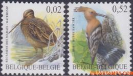 België 2003 - Mi:3251/3252, Yv:3192/3193, OBP:3199/3200, Stamp - XX - Birds Snipe Hop - 1985-.. Vogels (Buzin)