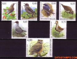 België 2004 - Mi:3316/3322, Yv:3254/3260, OBP:3264/3270, Stamp - XX - Birds Nightingale, Gray Flycatcher, House Martin, - 1985-.. Vogels (Buzin)