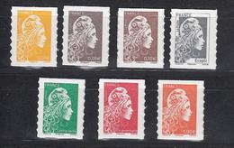 < France Adhésif AA 1594 / AA 1600 émis En Feuille De 100 Timbres Verso Blanc.  Mariane .. Cote 9.50 E - Sellos Autoadhesivos