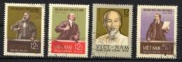 NORD VIETNAM, NORTH VIET-NAM 1965, Hô Chi Minh, Lénine, Karl Marx, Engels,, 4 Valeurs, Oblitérés / Used. R202 - Vietnam