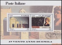 Italie 2000 - Mi:BL 21, Yv:BL 23, Block - XX - 2000 Art And Science - Hojas Bloque