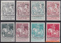 België 1911 - Mi:81 II/ 88 II, Yv:92/99, OBP:92/99, Stamp - O - Imprint 1911 - 1910-1911 Caritas
