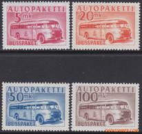 Finland 1952/1957 - Mi:Auto Paket Marken 10/13, Yv:Autobus 6/9, Bus Parcel Stamp - XX - Bus - Paketmarken