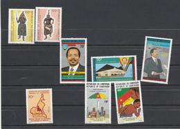 Cameroun 1986 Yvert 799 Et 800 + 801 à 803 + 807 + 808 Et 809 ** Neuf Sans Charnière - Camerun (1960-...)