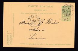 DDZ 916 -- Entier Postal Type Armoiries DEUX-ACREN 1905 Vers LESSINES - Signé Degardin - Cartoline [1871-09]