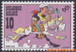 België 1990 - Mi:2442, Yv:2390, OBP:2390, Stamp - XX - Youth Philately Lucky Luke - Ungebraucht