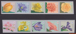 België 2016 - Mi:4701/4710, Yv:4625/4634, OBP:4653/4662, Coil Seal - XX - Flowers - Unused Stamps