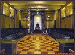 België 2008 - Mi:BL 130, Yv:BL 126, OBP:BL 155, Block - XX - Freemasonry - Libretti 1962-....