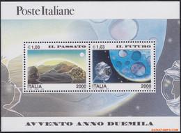 Italie 2000 - Mi:BL 20, Yv:BL 22, Block - XX - 2000 Past And Future - Hojas Bloque
