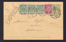 DDZ 918 -- Entier Postal Type Armoiries En EXPRES Télégraphique THUIN Ouest 1903 Vers WALCOURT - Cartoline [1871-09]