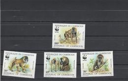 Cameroun 1988 Yvert Série 822 à 825  ** Neuf Sans Charnière - Animaux Singe Babouin - Camerun (1960-...)